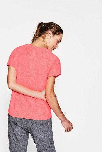 ESPRIT Neonfarbiges Active-Shirt mit Print, E-DRY