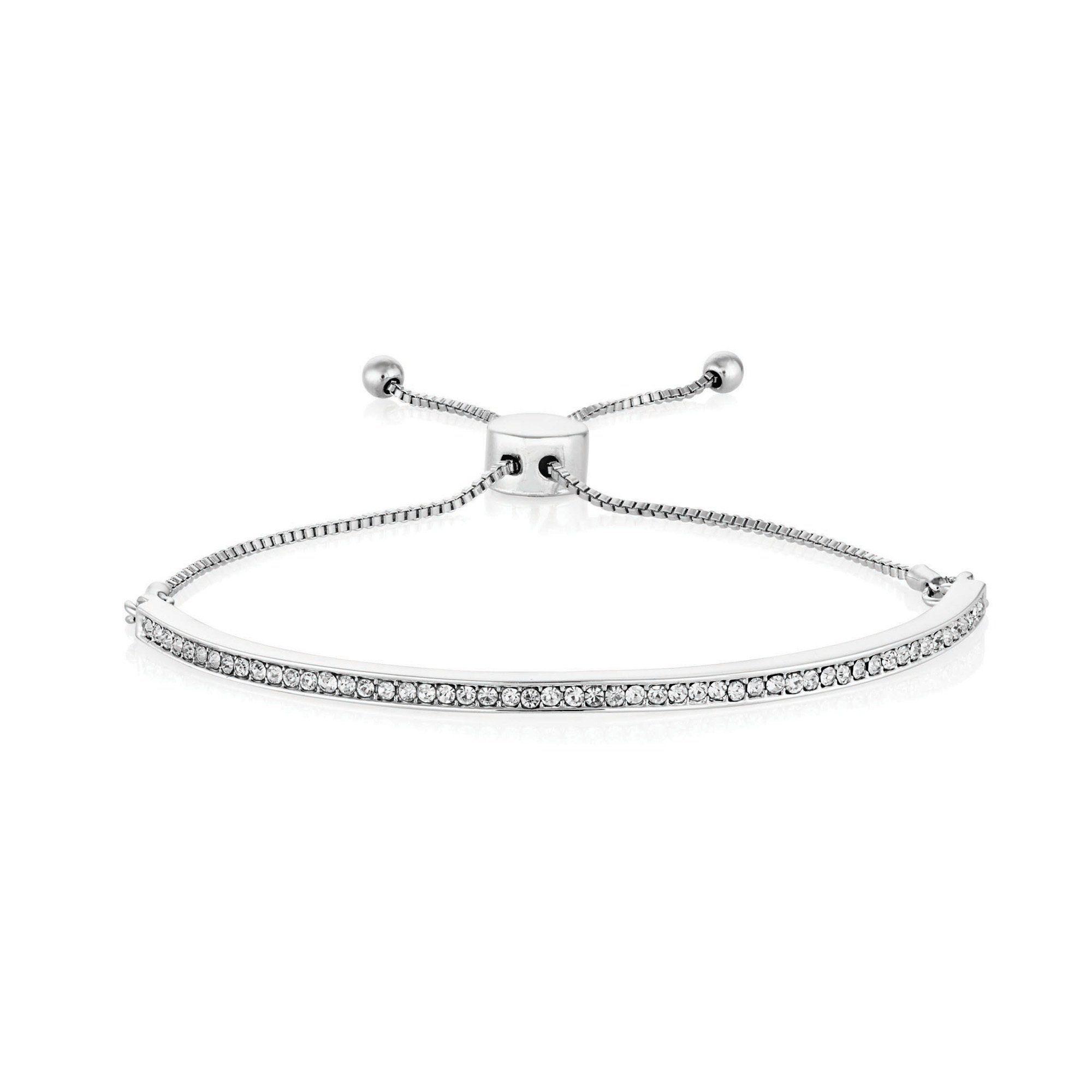 Buckley London Armband Messing rhodiniert mit Kristallen