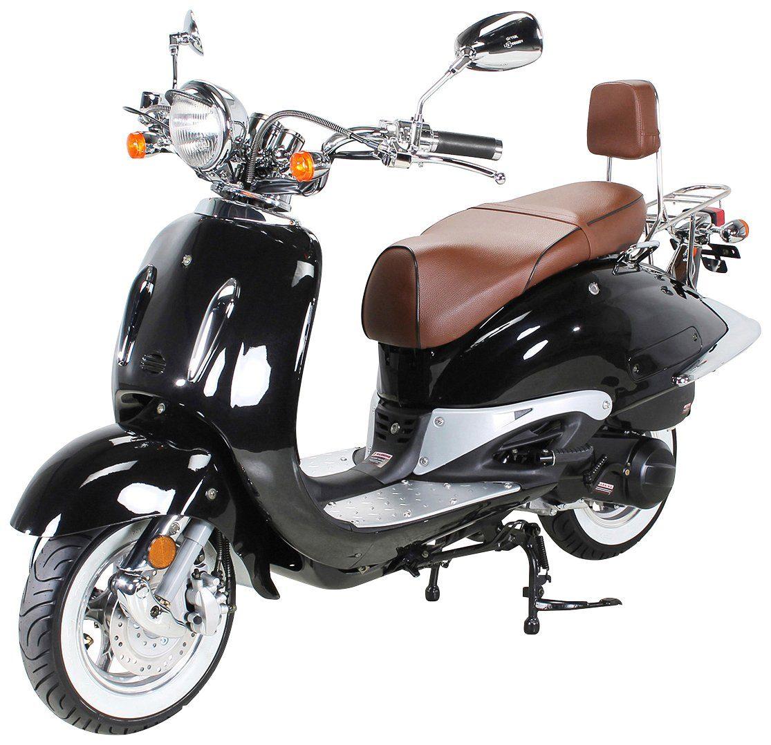 ACTIONBIKES MOTORS Motorroller »Retro Classic ZN125T-E«, 125 ccm, Euro 4, schwarz