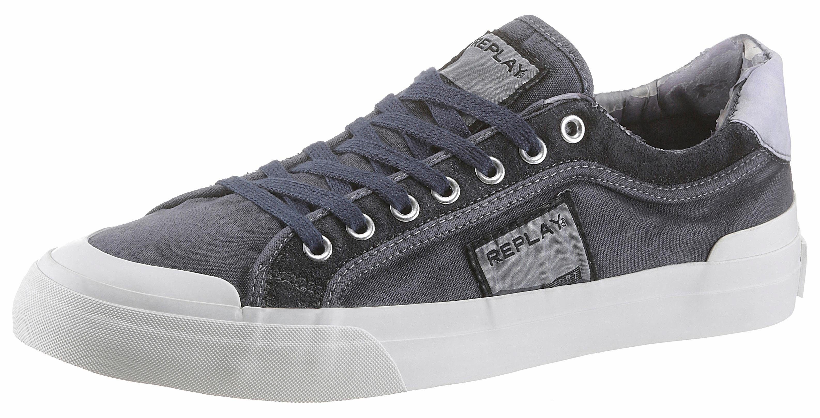 Replay Dawson Sneaker, mit trendiger Gummikappe  navy-used