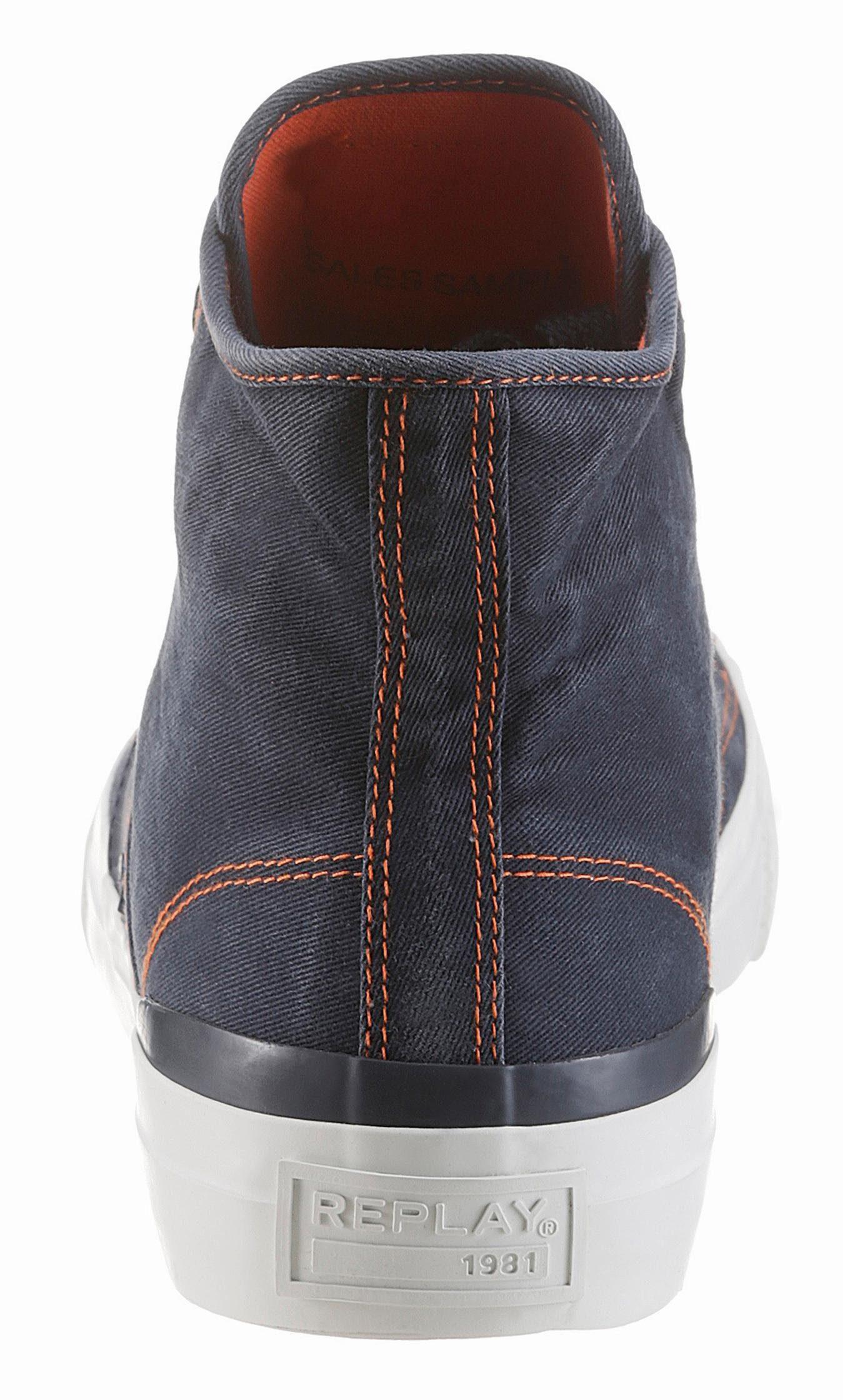 Replay Sound Sneaker, im Used-Look online kaufen  dunkelblau-used