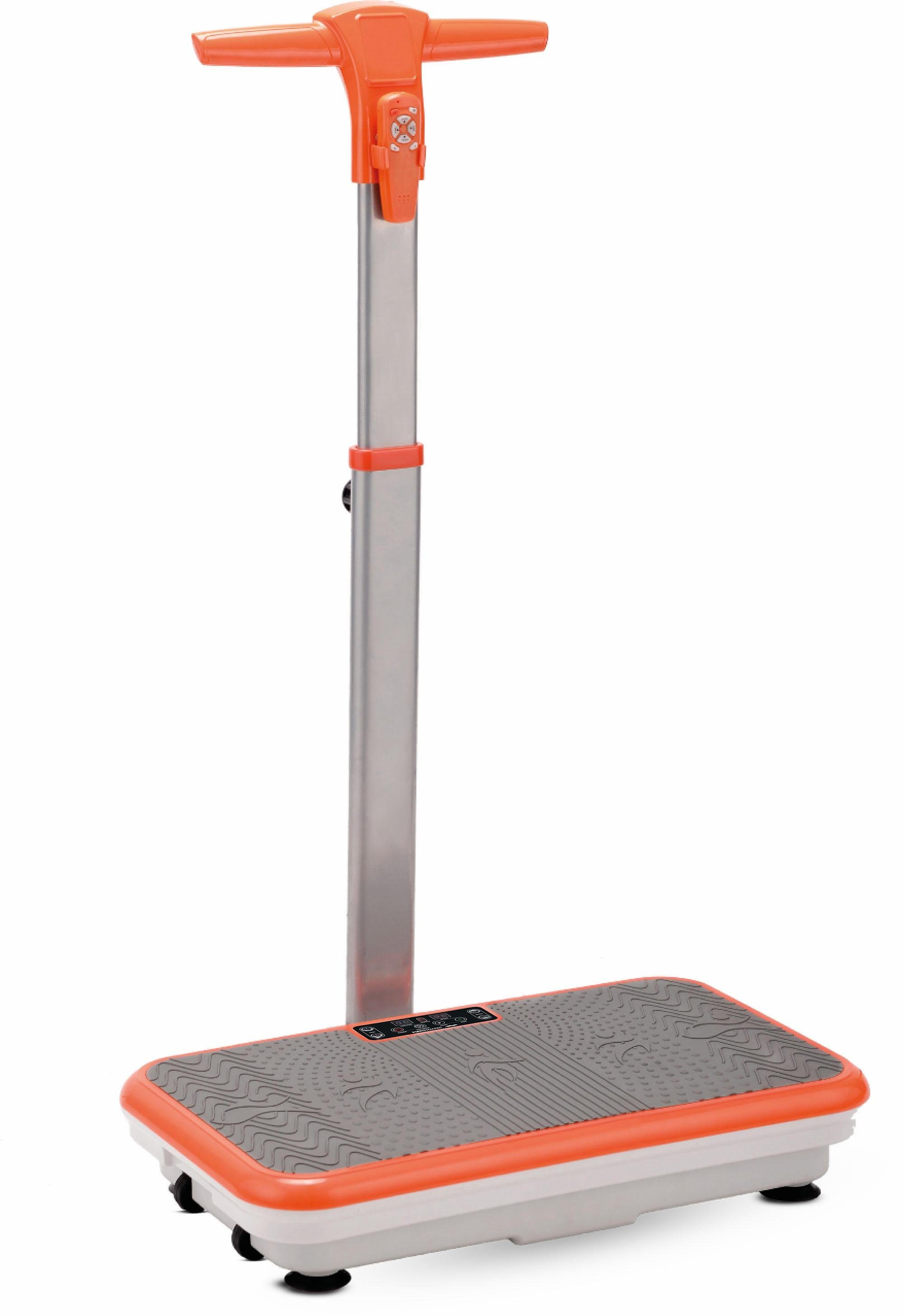 VibroShaper™ Vibrationsplatte, 200 W, 3 Intensitätsstufen, (Set, mit Trainingsbändern), mit Haltestange
