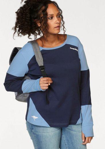 KangaROOS Sweatshirt im modischen Color-Blocking
