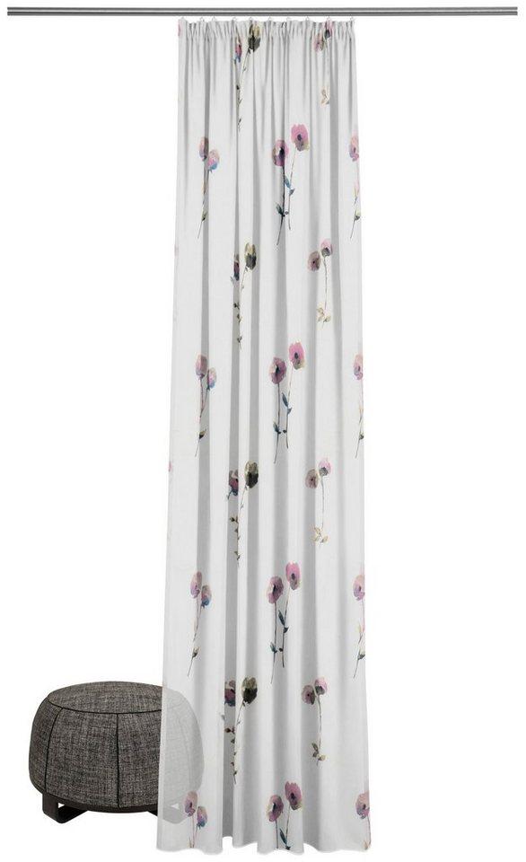 gardine nach ma poppy ado goldkante smokband 1 st ck. Black Bedroom Furniture Sets. Home Design Ideas