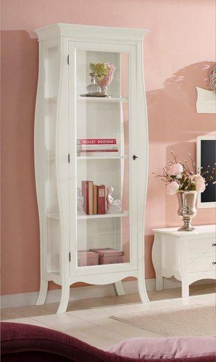 Home affaire Vitrine »Kristine« aus schönem weiß lackiertem Holz, mit Glasfronten, Höhe 205 cm