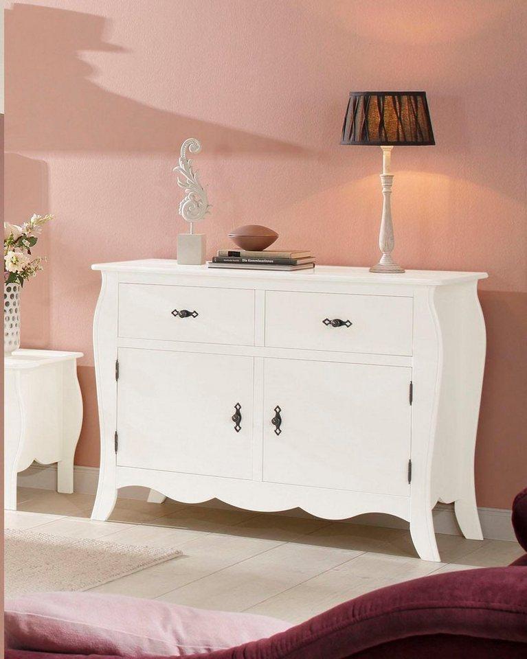 home affaire kommode kristine mit zwei schubladen. Black Bedroom Furniture Sets. Home Design Ideas