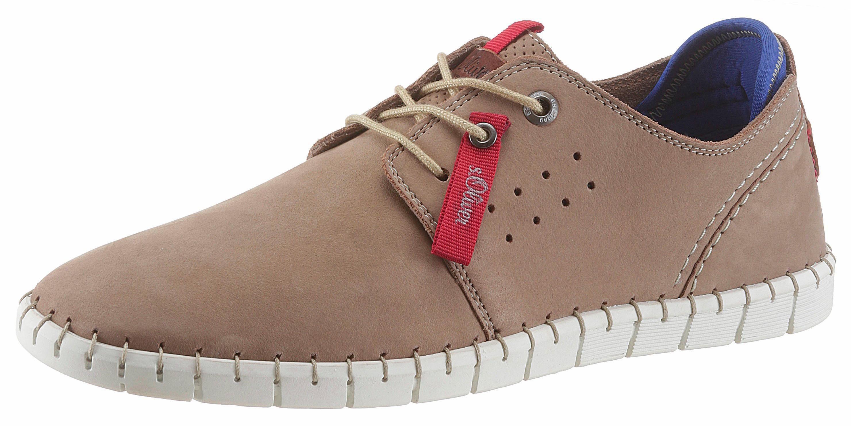 sOliver RED LABEL Sneaker, mit ultraleichter und flexibler Laufsohle online kaufen  beige
