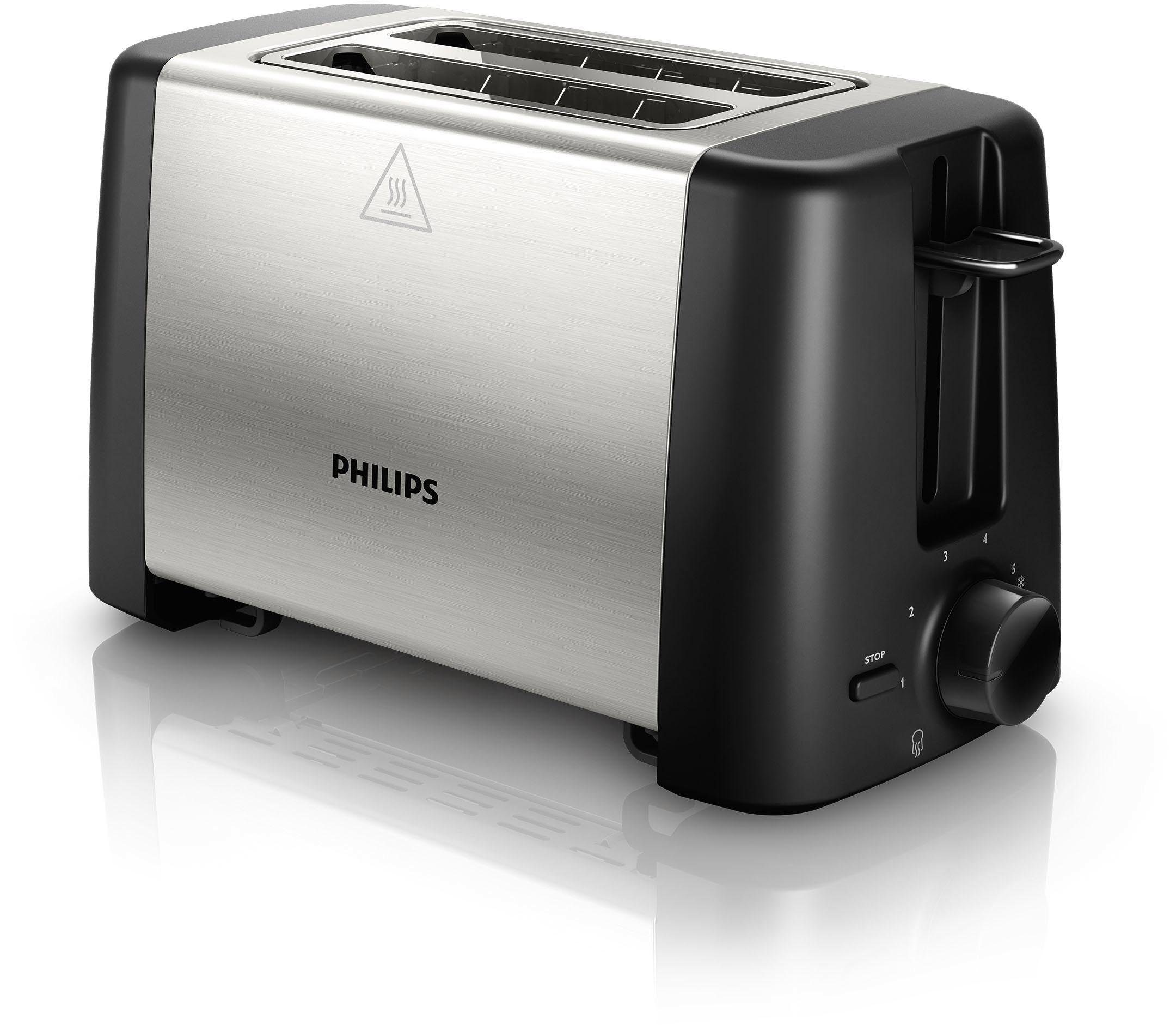Philips Toaster HD4825/90, 800 W, Auftau- und Aufwärmfunktion