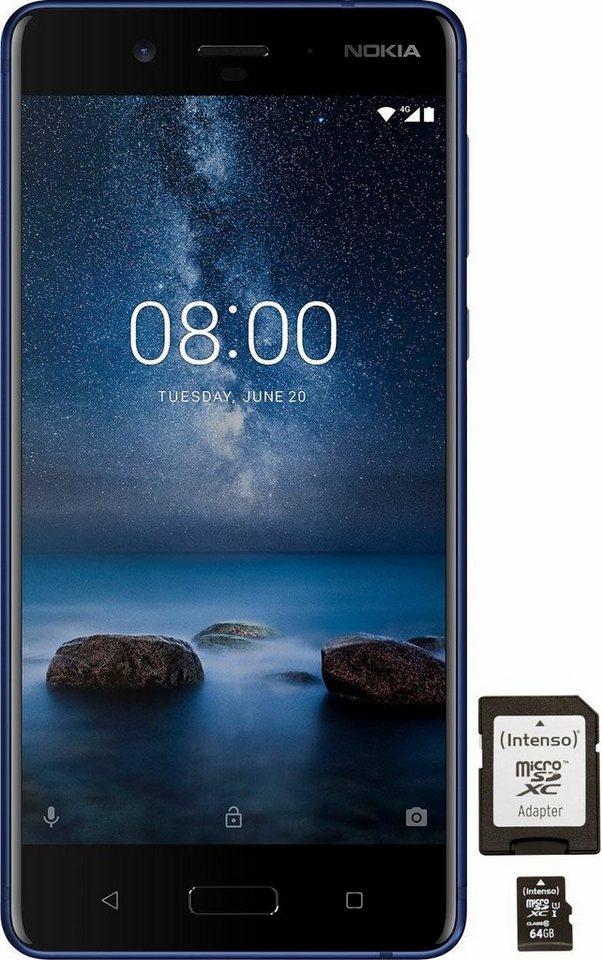 nokia 8 mit 64gb speicherkarte smartphone 13 46 cm 5 3. Black Bedroom Furniture Sets. Home Design Ideas