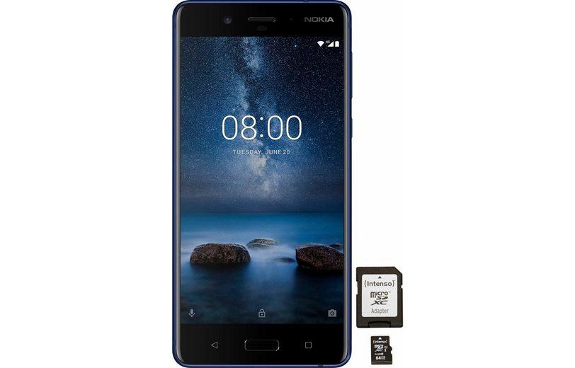 Nokia 8 mit 64GB Speicherkarte Smartphone (13,46 cm/5,3 Zoll, 64 GB Speicherplatz, 13 MP Kamera)