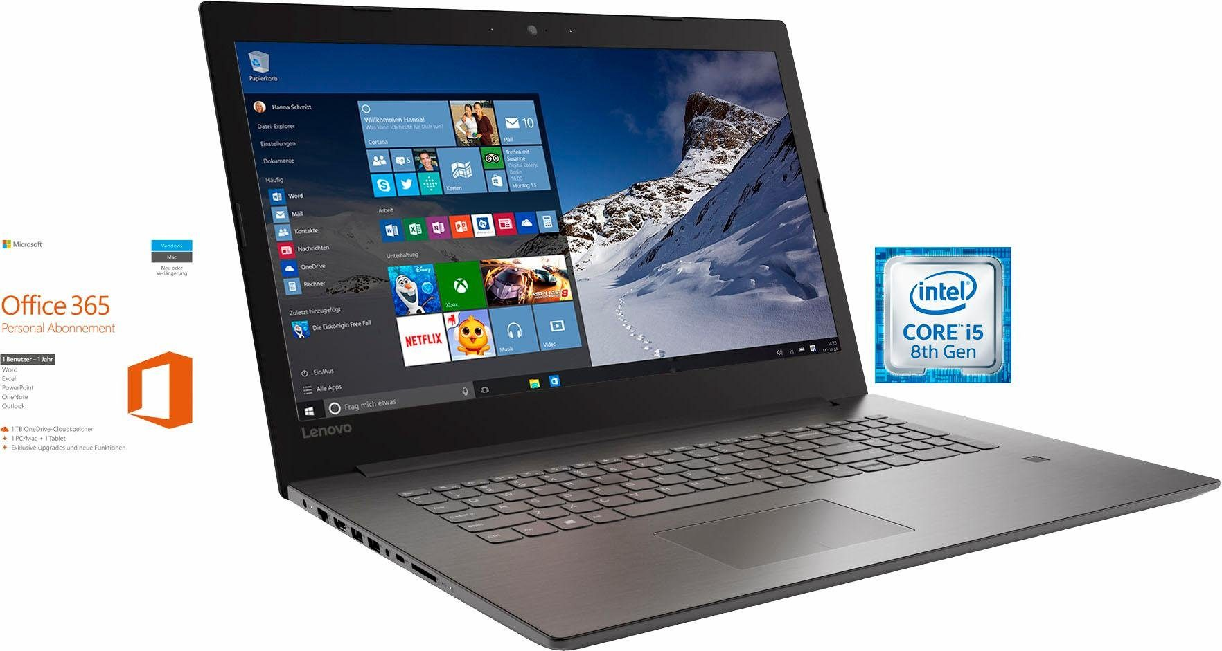 "Lenovo 320-17IKBR, 81BJ0021GE inkl. Office 365, 17,3"" Notebook, Intel® Core™ i5, 43,9 cm (17,3 Zoll)"