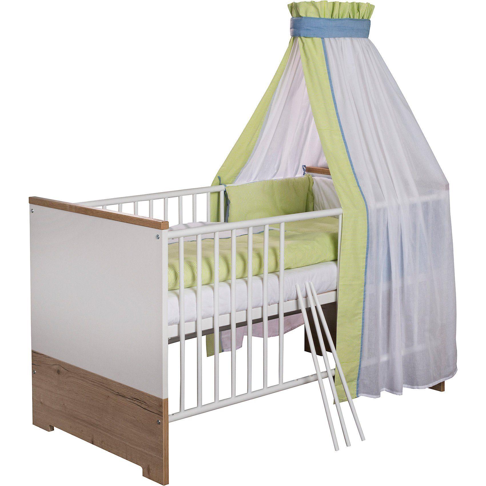 Schardt Kinderbett Eco Plus, 70x140 cm, weiß/Halifax Eiche