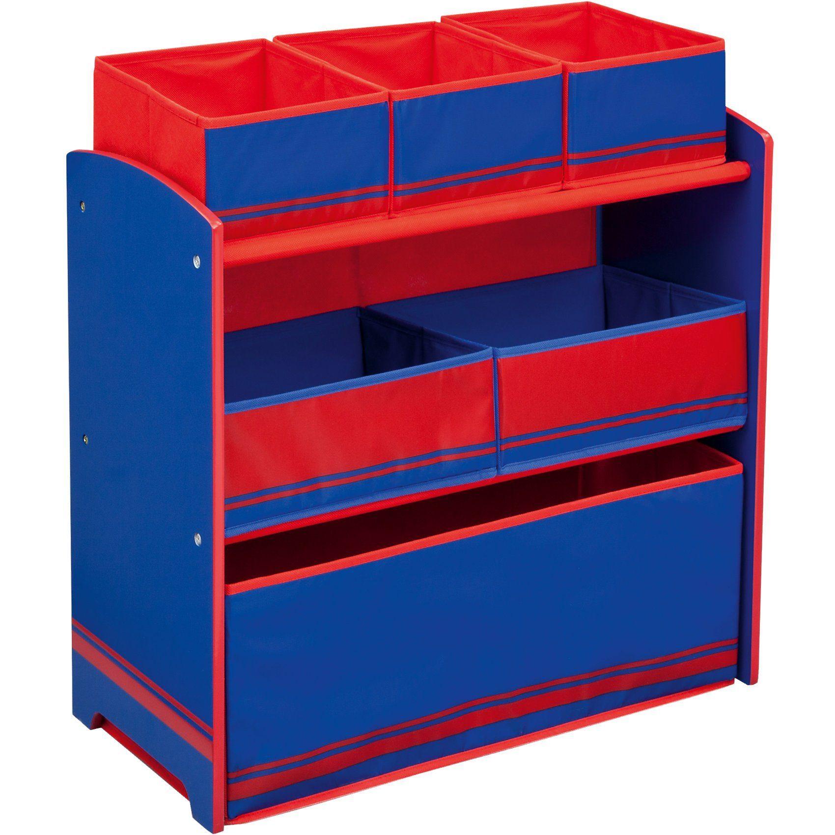 DELTA CHILDREN 6-Boxenregal, rot/blau
