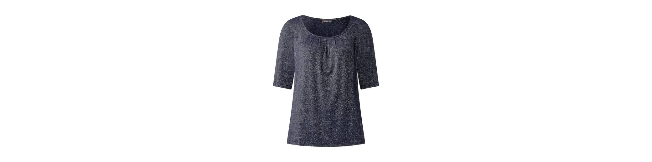 Verkaufsshop Günstigsten Preis Zu Verkaufen Street One Halbarm Shirt mit Glitzer UK6IMNjeL5