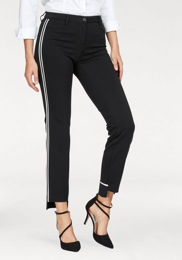 Rosner Tube Pants, Galonstreifen With Side And Mullet Hem