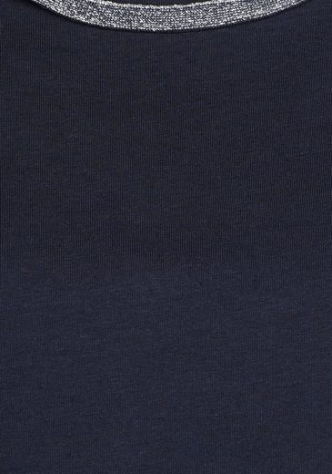 Crew-neck Shirt Stooker Women, Bea With Glittering Ribbon On Cutout