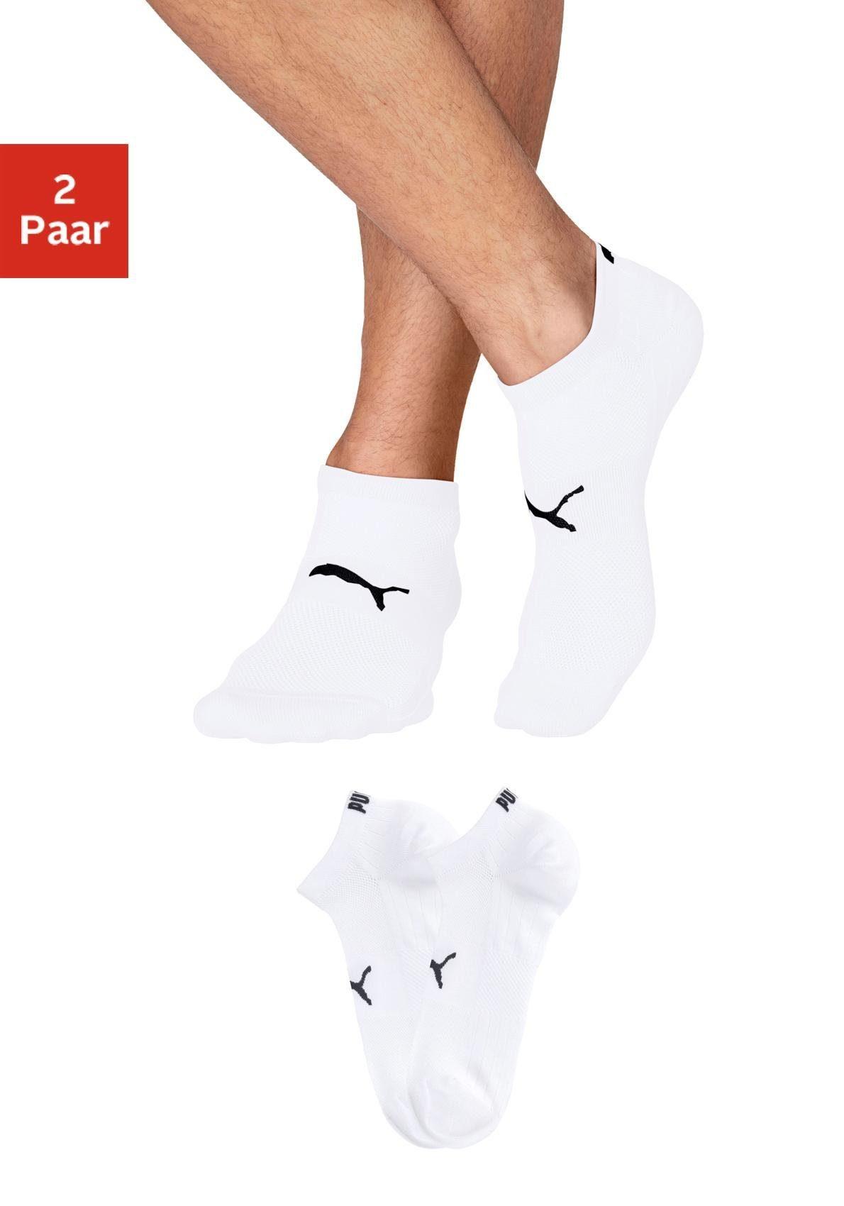 PUMA Sneakersocken (2 Paar) mit Strickzonen in Netzoptik