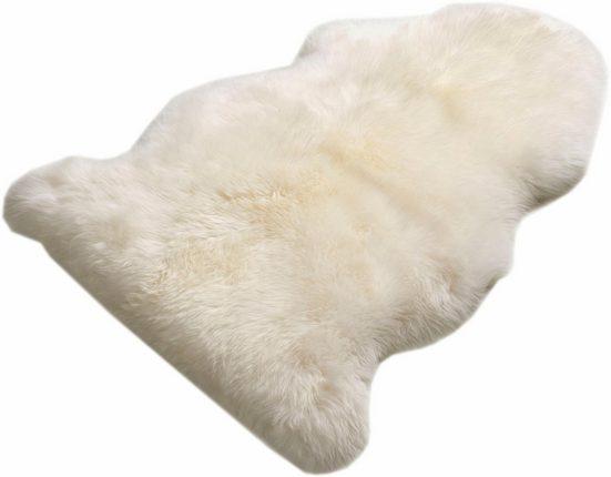 Fellteppich »Schaffell LF«, Böing Carpet, fellförmig, Höhe 70 mm, echtes Lammfell, Wohnzimmer