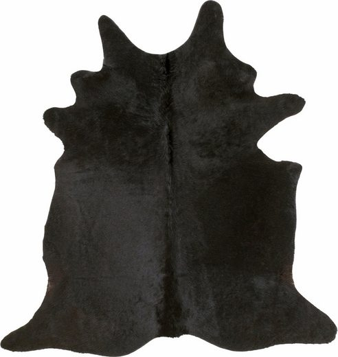 Fellteppich »Fell schwarz«  Böing Carpet  fellförmig  Höhe 4 mm  echtes Rinderfell