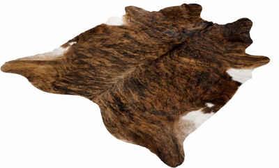 Fellteppich »Fell Exot«, Böing Carpet, fellförmig, Höhe 4 mm, echtes Rinderfell, Naturprodukt daher ist jedes Rinderfell ein Einzelstück, Wohnzimmer