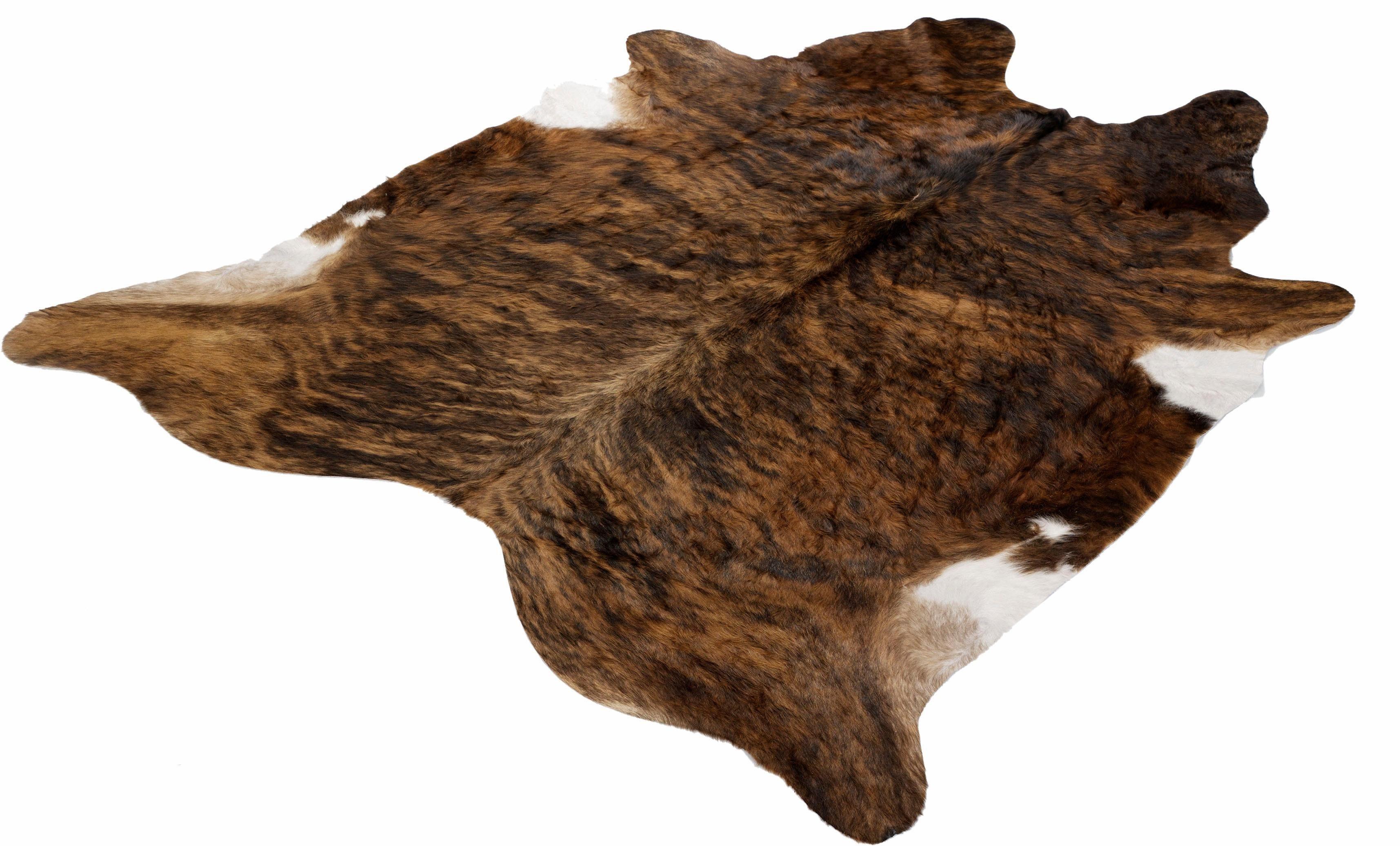 Fellteppich »Fell Exot«, Böing Carpet, fellförmig, Höhe 4 mm, echtes Rinderfell
