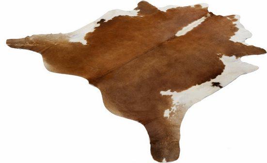Fellteppich »Fell Hereford«, Böing Carpet, fellförmig, Höhe 4 mm, echtes Rinderfell