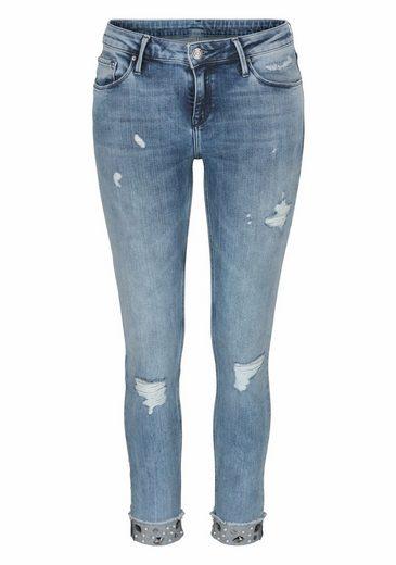 Mit Vintage Stretch Perlen jeans Jeans® Cross Im edellook apBqBU