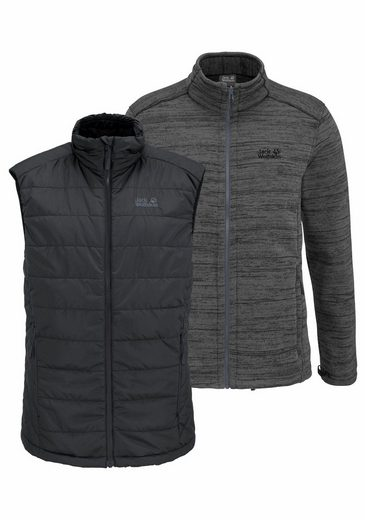 Jack Wolfskin Steppweste AQUILA GLEN MEN (Set, 2 tlg., mit Fleecejacke), aus der 3-in-1 SYSTEM SHORT-Serie