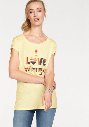 Wrangler T-shirt With Colored Front-print