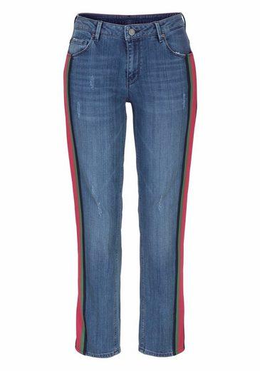ROSNER Stretch-Jeans, mit seitlichem Galonstreifen