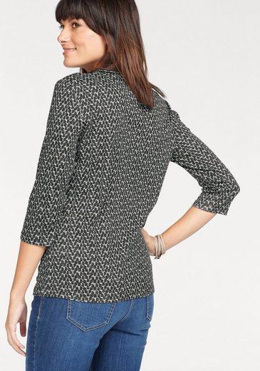 Olsen Rundhalsshirt, aus Bio-Baumwolle, Allover-Print