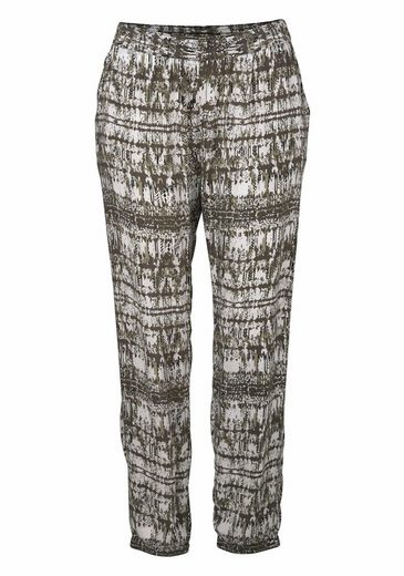 Stooker Women Harem Pants, Joy, Casual Slip Pants With Allover-print