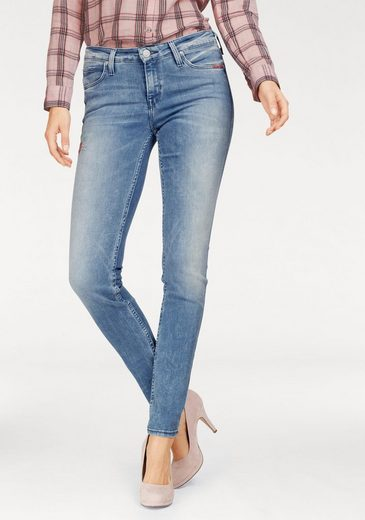 Lee® Stretch-Jeans, >>Scarlett<< mit Stickerei auf einem Bein