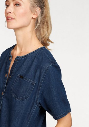 Lee® Jeanskleid, mit coolem Cut-Out-Saum