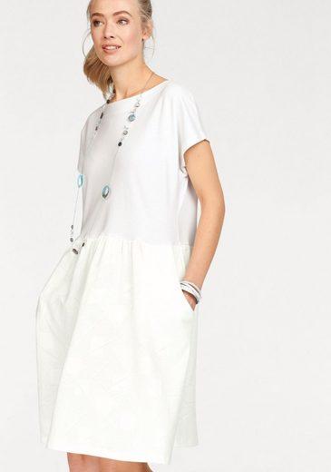 Cross Jeans® Sweatkleid, im coolen Materialmix