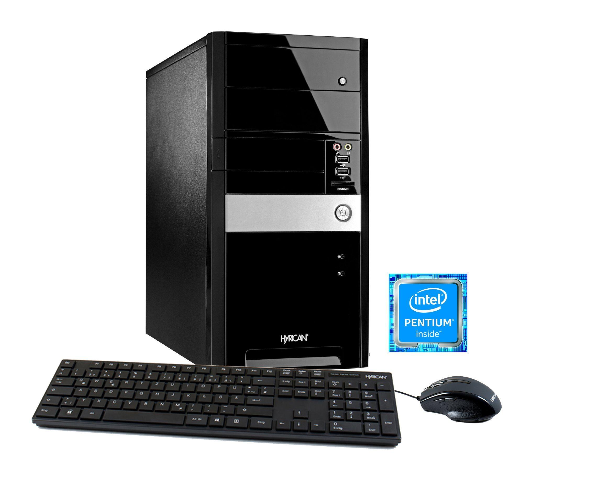 HYRICAN Multimedia PC Intel® Pentium G4600 8GB 1TB HDD GeForce® GTX 1050 »Multimedia PC 5734«