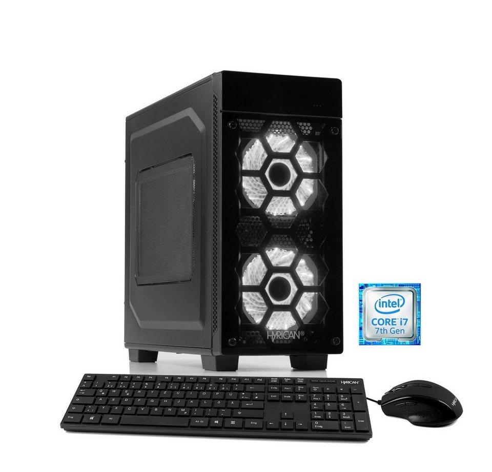 hyrican gaming pc intel i7 7700 8gb 1tb 120gb ssd geforce. Black Bedroom Furniture Sets. Home Design Ideas