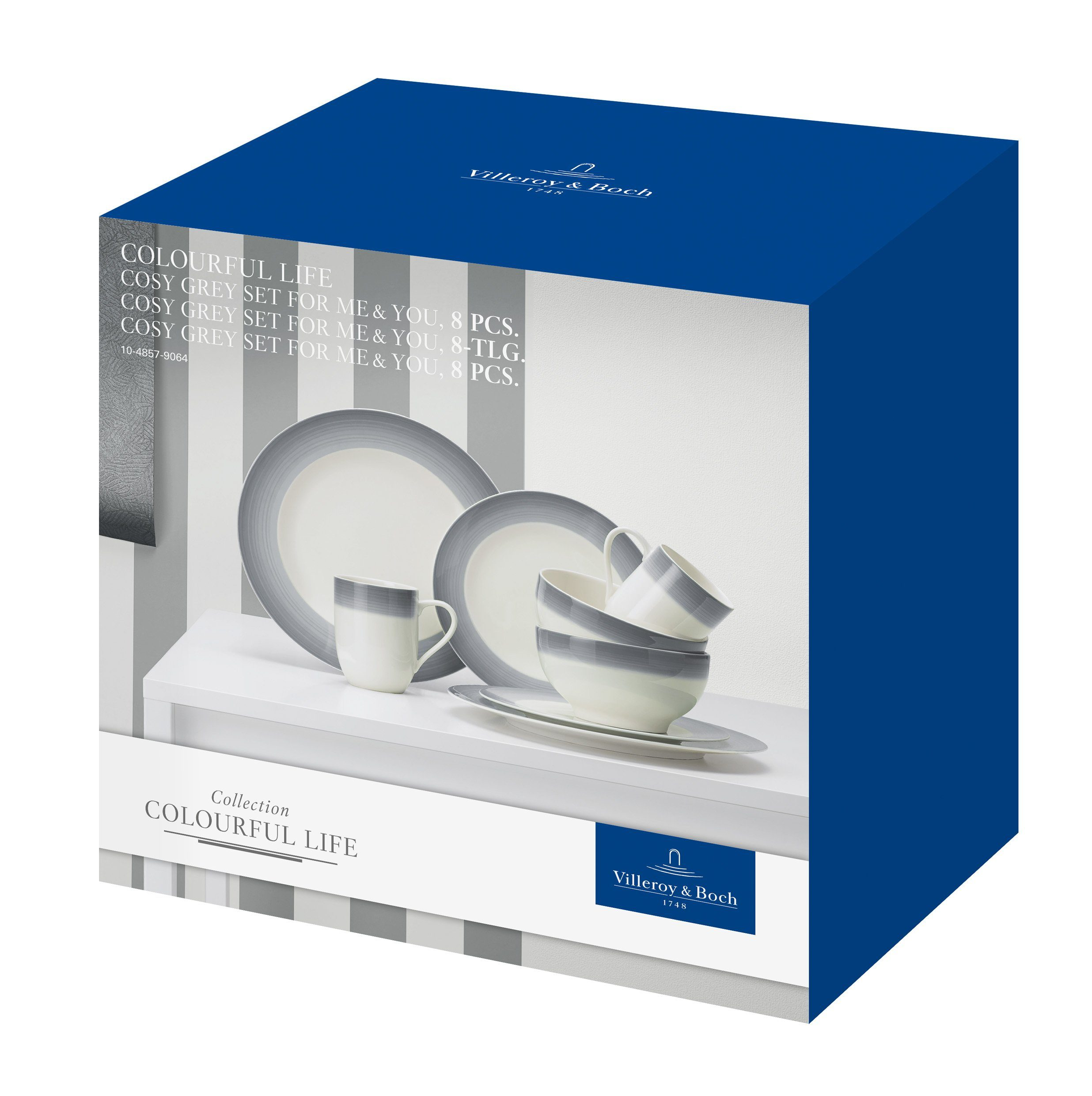 Villeroy & Boch Set For Me & You »Colourful Life Cosy Grey«