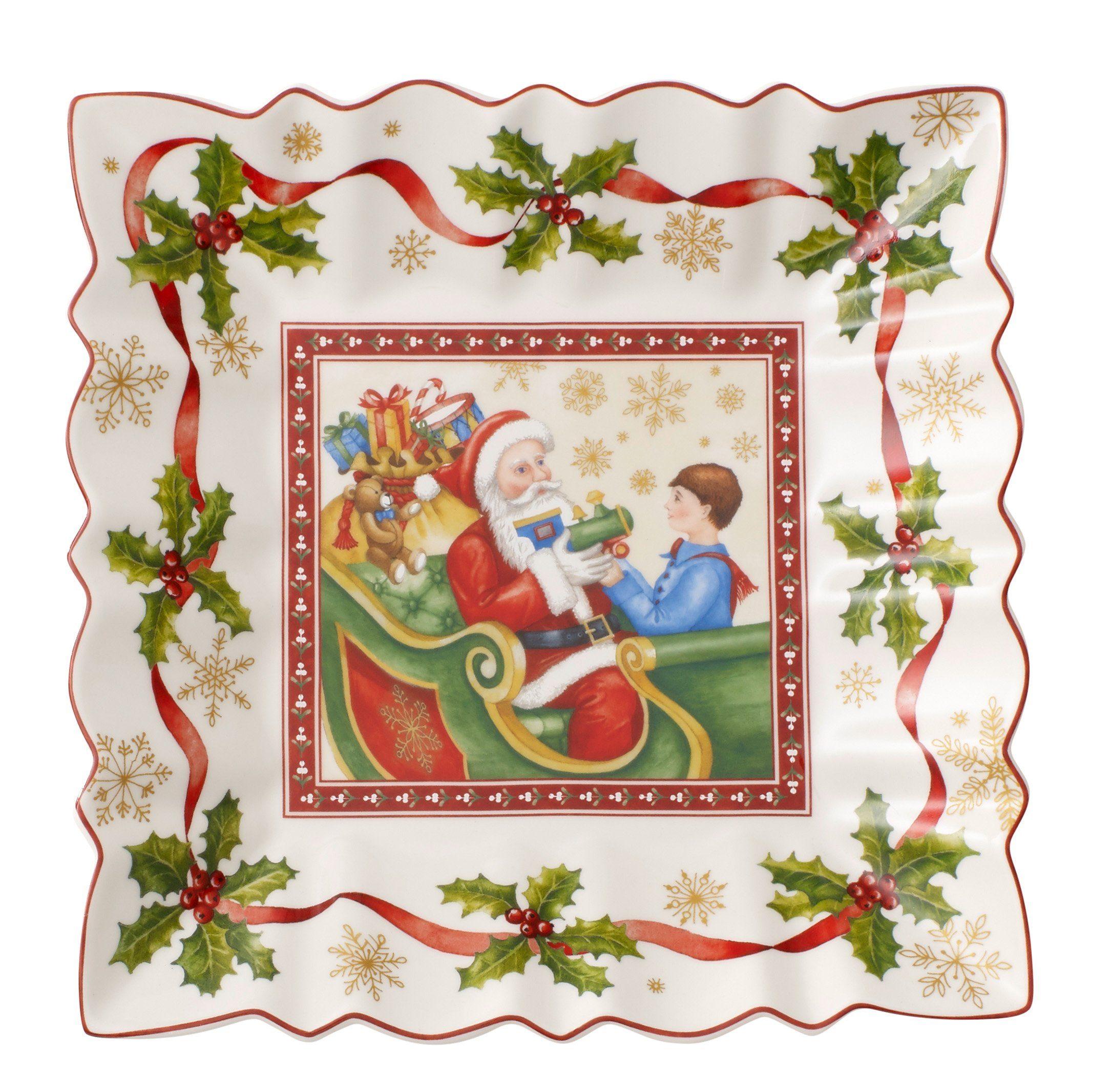 Villeroy & Boch Schale eckig Santa Claus »Toy's Fantasy«