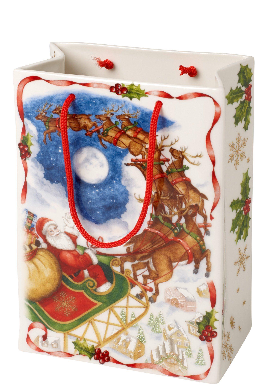 Villeroy & Boch Vase / Geschenktüte groß, Santas Flug »Toy's Fantasy«