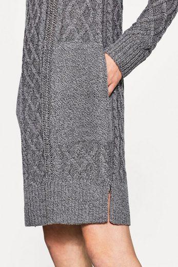 EDC BY ESPRIT Zopfstrick-Kleid mit Wollanteil