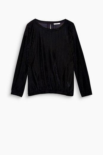 EDC BY ESPRIT Samt-Shirt mit Rippen-Struktur