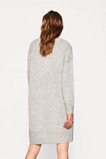 ESPRIT Meliertes Grobstrick-Kleid mit Alpaka