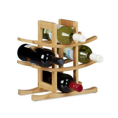 relaxdays Weinregal »Weinregal Bambus 9 Flaschen«