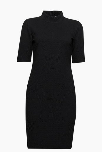 Esprit Structured Stretch Dress With Stehkragen