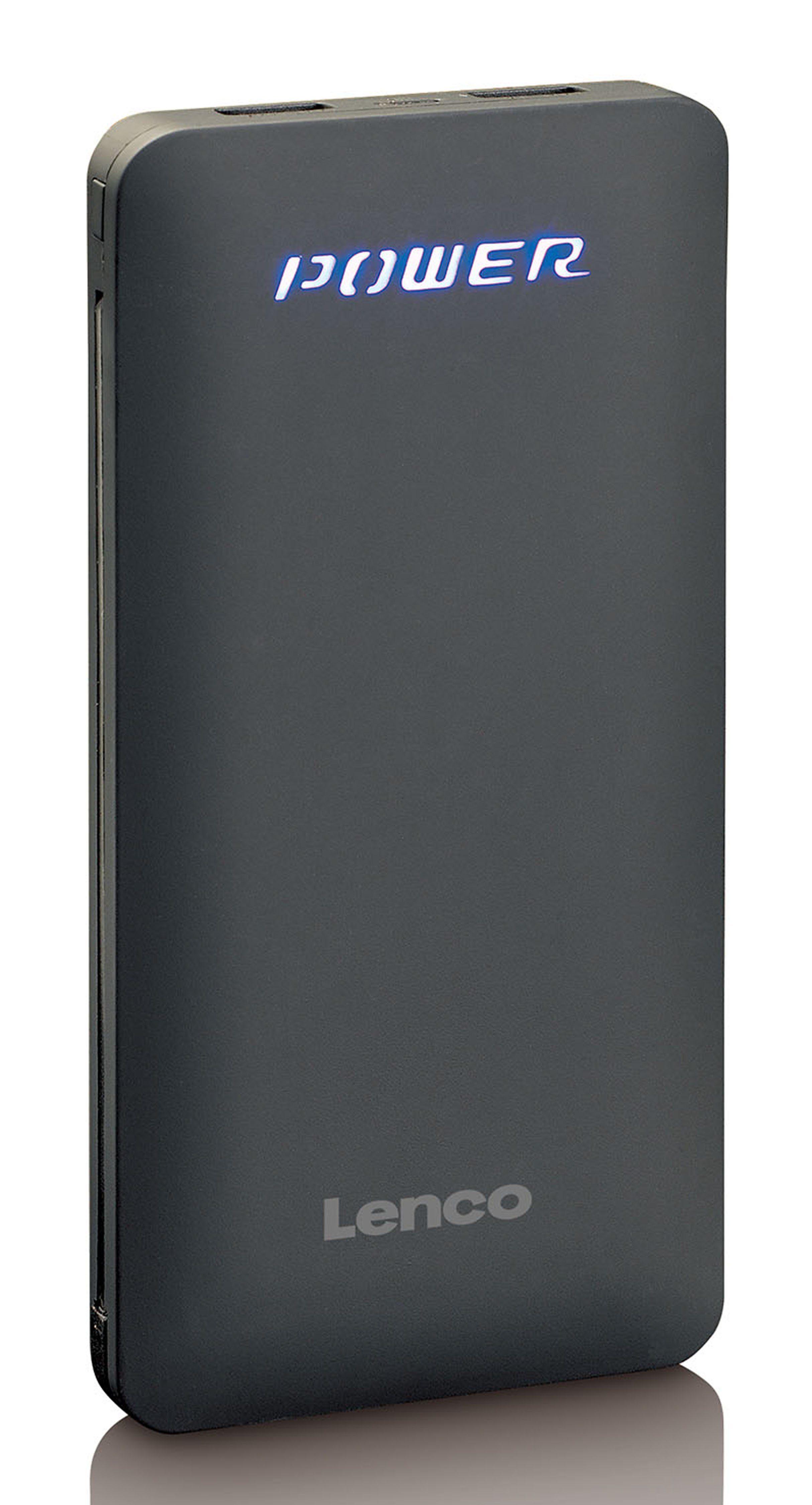 Lenco Powerbank/Akkupack, USB-Kabel & Apple Adapater »PBA-830«