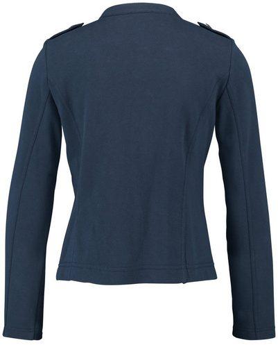 Typhoon Blazer Long Sleeves Lined Jersey Blazer In Uniform-look