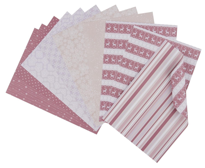 "Papier-Set ""Snowflake kisses"" 12 Blatt"