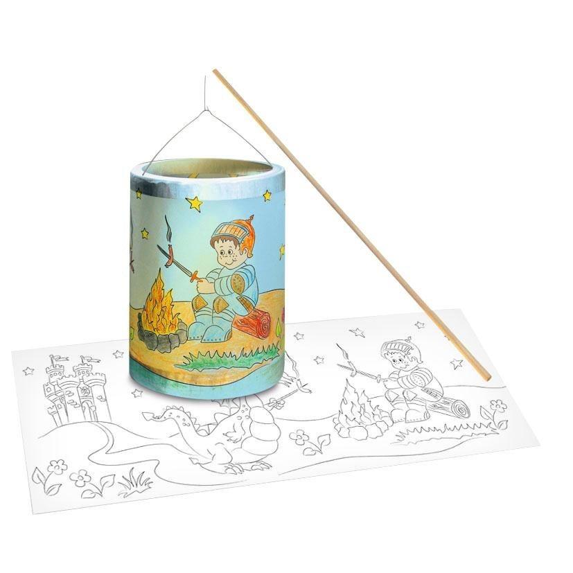 URSUS Laternen-Bastelset zum Ausmalen ´´Ritter´´ | Dekoration > Kerzen und Kerzenständer > Laternen | Bunt | Metall | URSUS