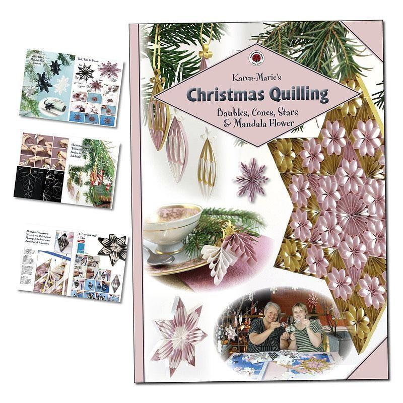 """Karen Marie Klip Heft """"Christmas Quilling"""" 32 Seiten"""